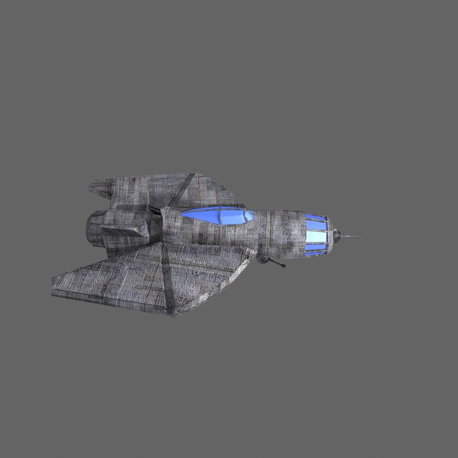 Space Fighter Tigron royalty-free 3d model - Preview no. 2