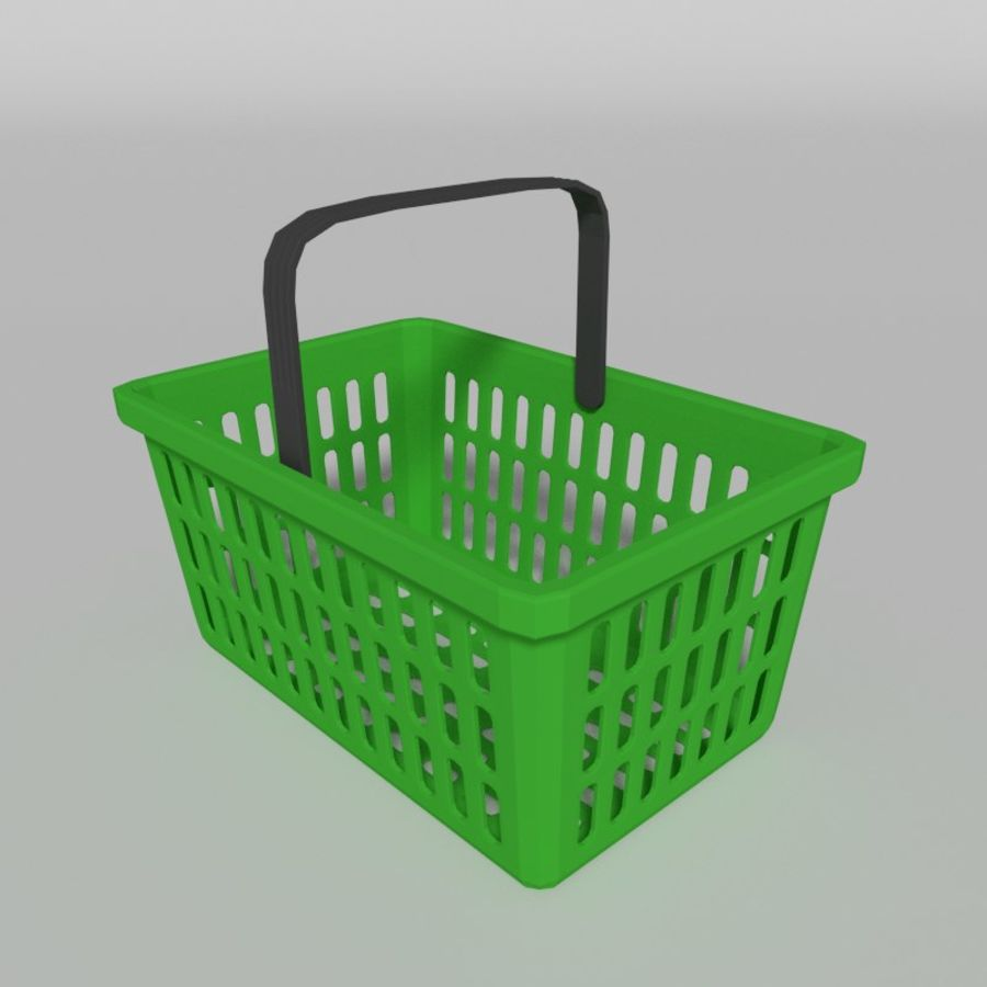 Shopping basket royalty-free 3d model - Preview no. 3
