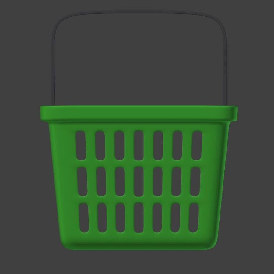 Shopping basket royalty-free 3d model - Preview no. 10