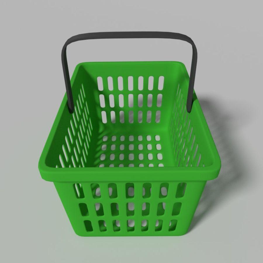 Shopping basket royalty-free 3d model - Preview no. 7