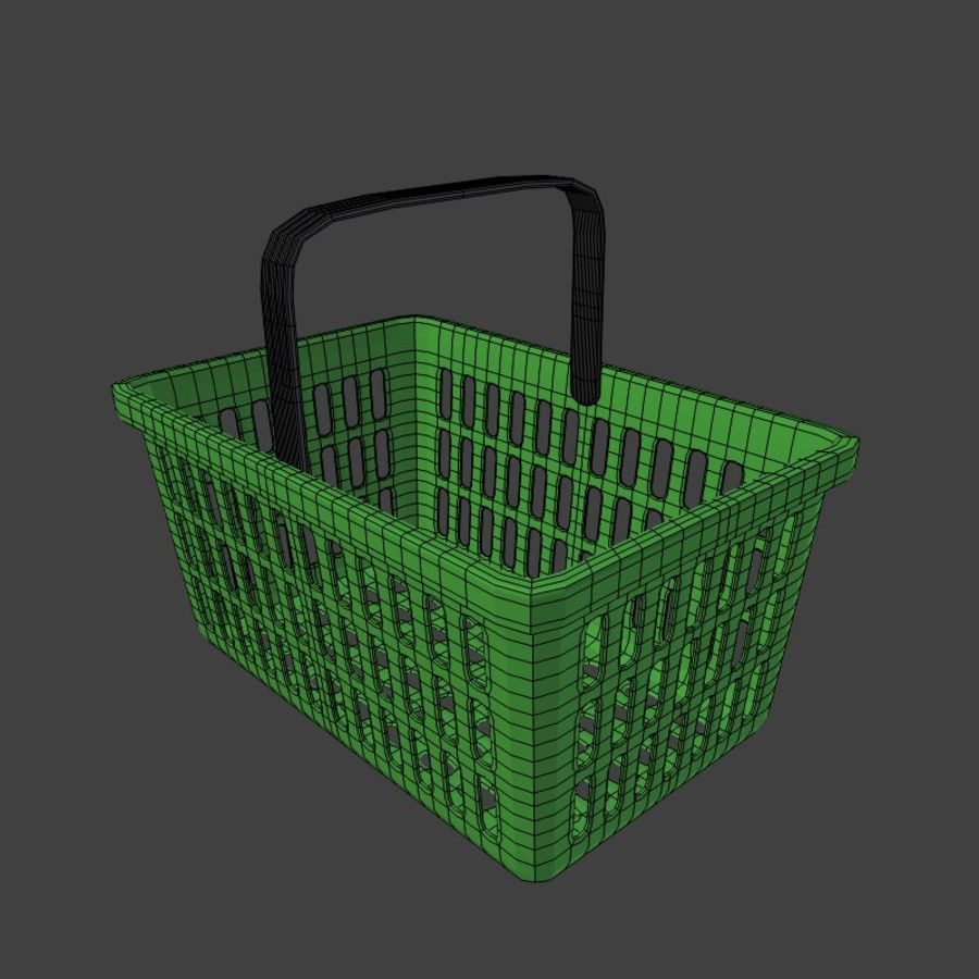 Shopping basket royalty-free 3d model - Preview no. 4