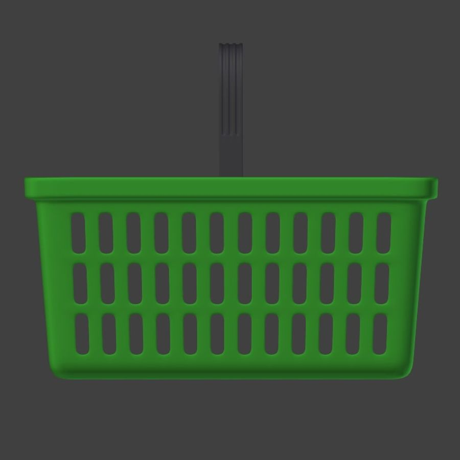 Shopping basket royalty-free 3d model - Preview no. 9