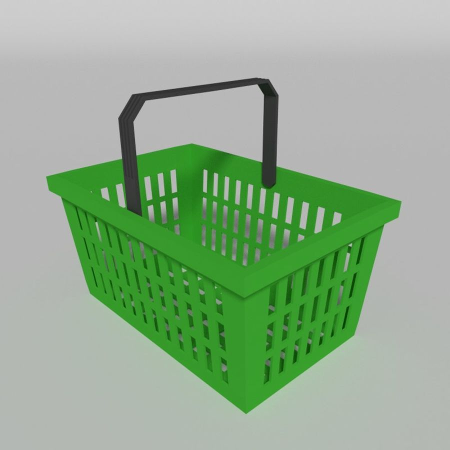 Shopping basket royalty-free 3d model - Preview no. 5