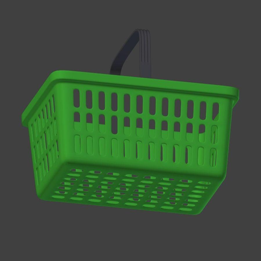 Shopping basket royalty-free 3d model - Preview no. 8