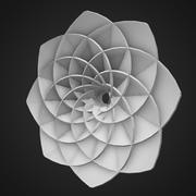 Abstract flower shape 3d model
