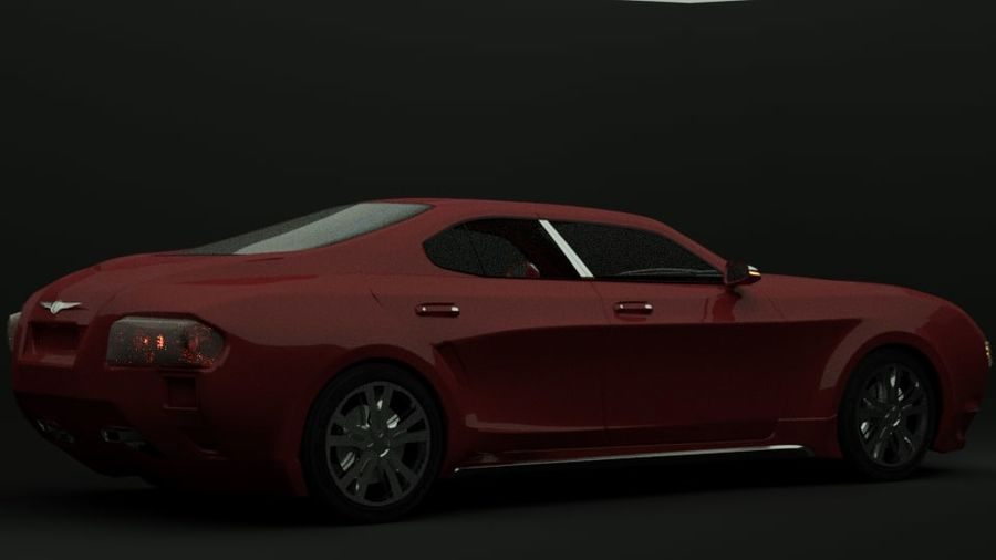 Concept de voiture de sport de luxe royalty-free 3d model - Preview no. 9