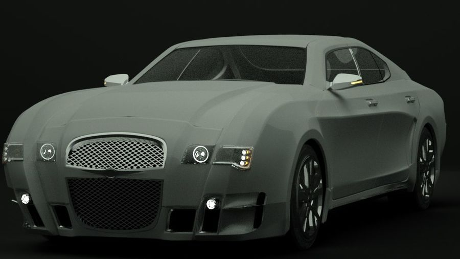 Concept de voiture de sport de luxe royalty-free 3d model - Preview no. 1