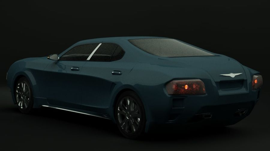 Concept de voiture de sport de luxe royalty-free 3d model - Preview no. 5