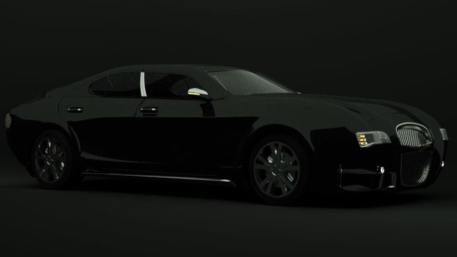 Concept de voiture de sport de luxe royalty-free 3d model - Preview no. 3
