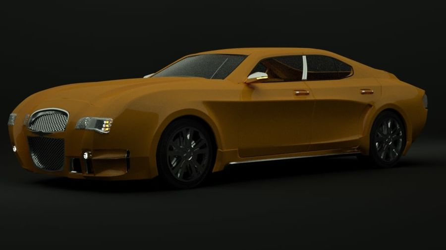 Concept de voiture de sport de luxe royalty-free 3d model - Preview no. 7