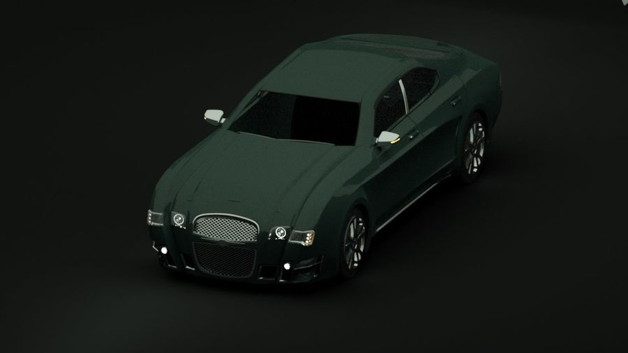 Concept de voiture de sport de luxe royalty-free 3d model - Preview no. 11