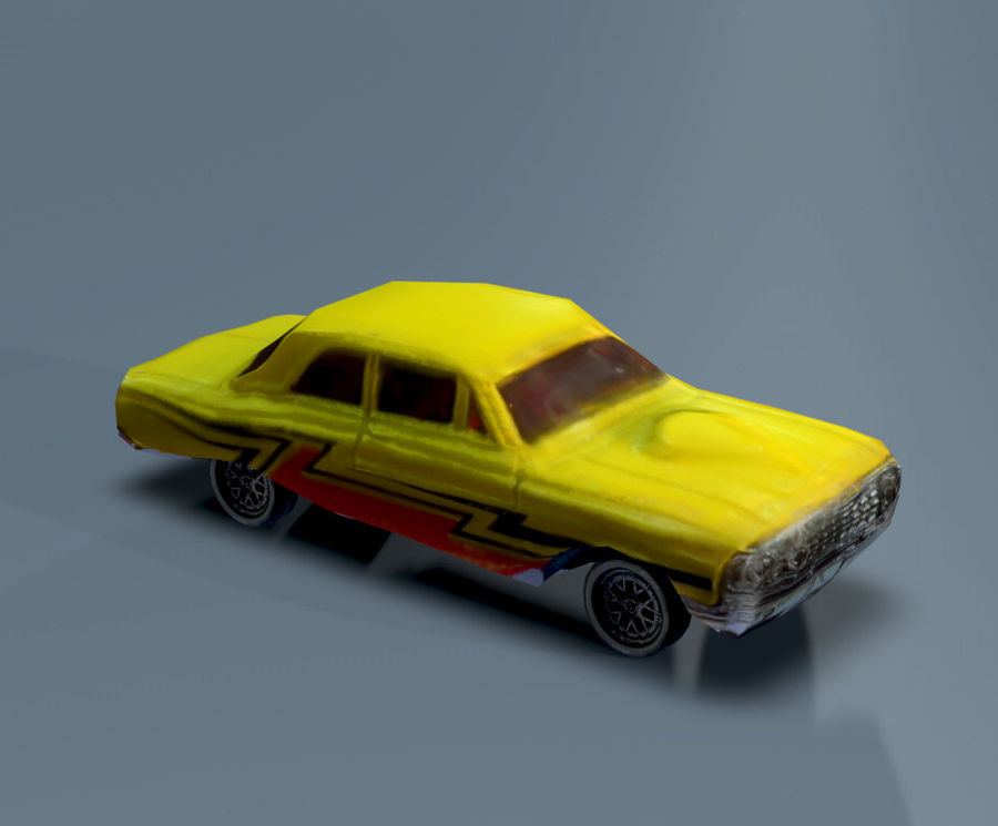 car low texture royalty-free 3d model - Preview no. 2
