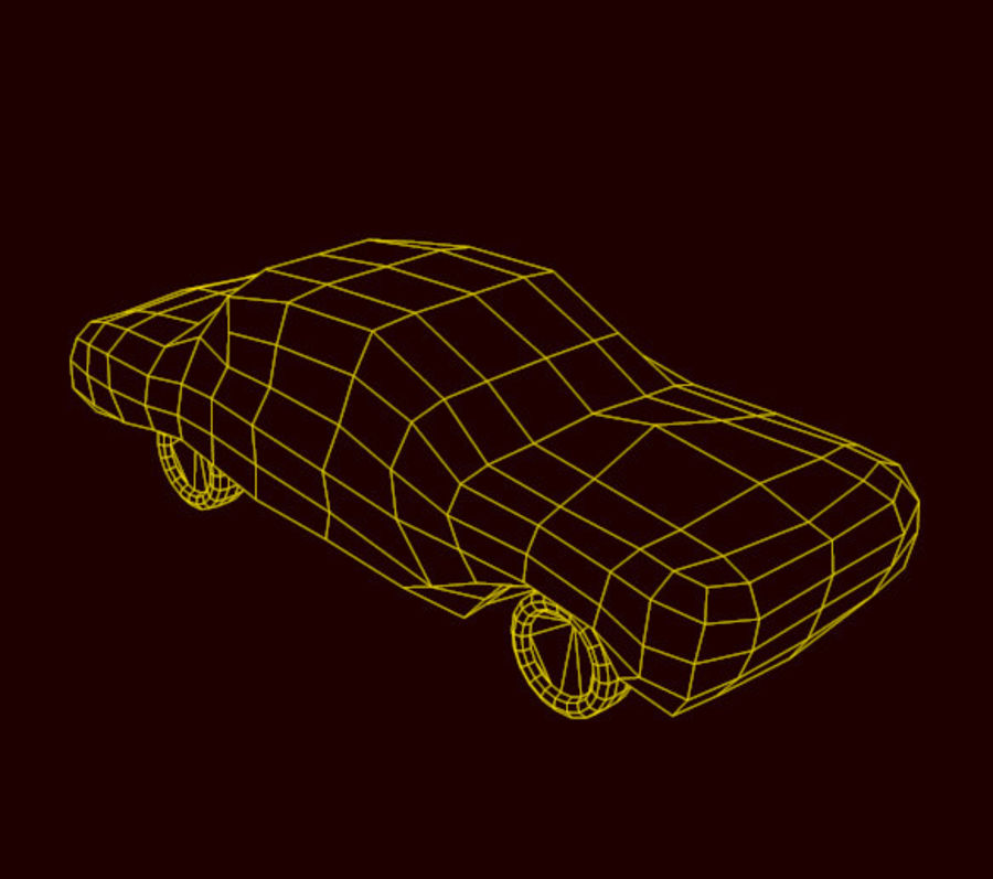car low texture royalty-free 3d model - Preview no. 7