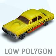 bil låg textur 3d model