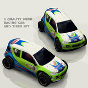 Voiture de course basse HD poly 3d model