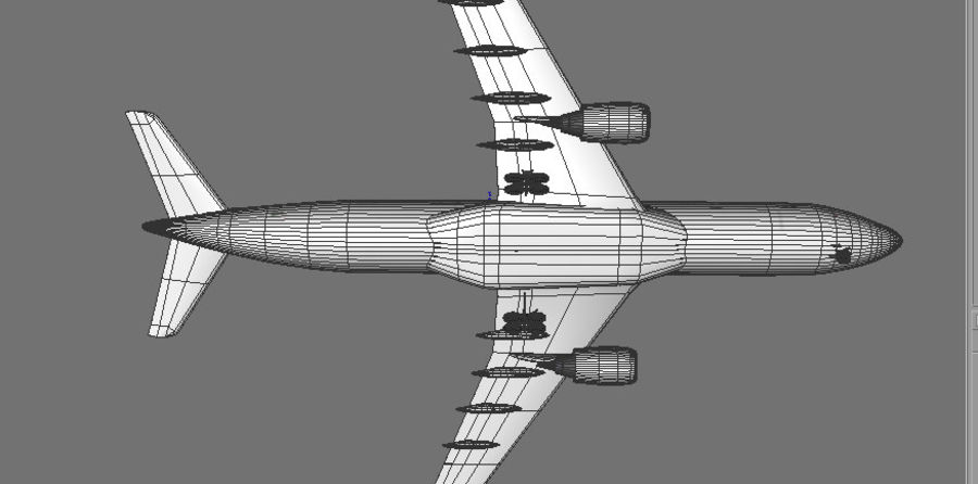Airbus A330 Delta royalty-free 3d model - Preview no. 4