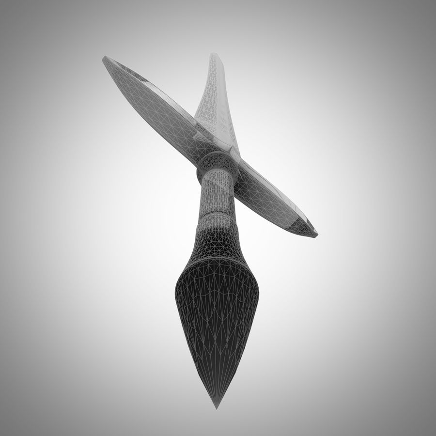 Fantasy Sword royalty-free 3d model - Preview no. 8