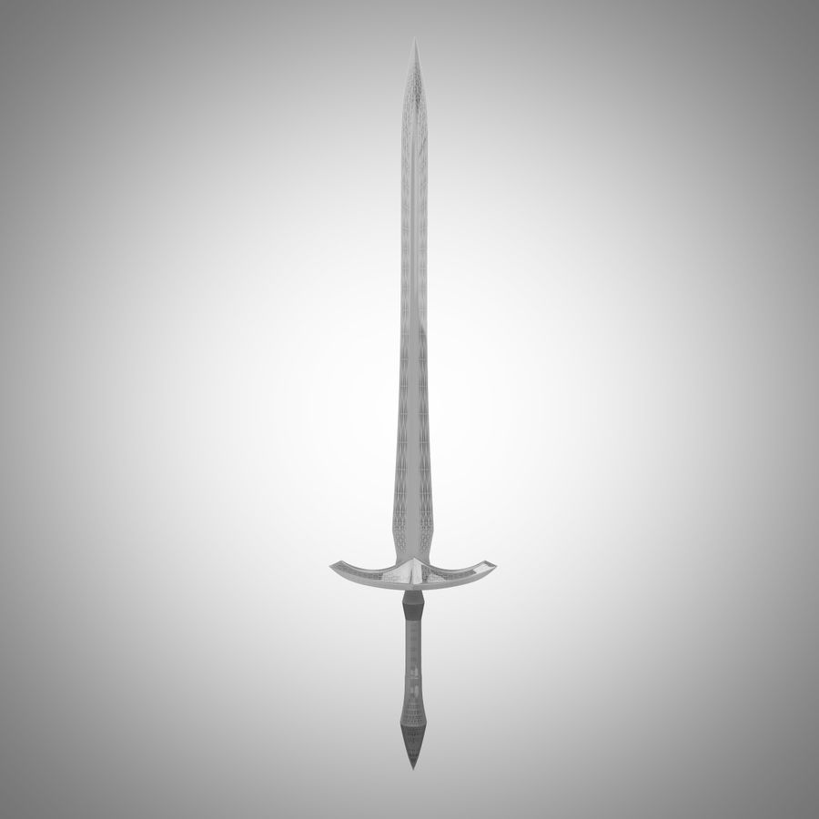 Fantasy Sword royalty-free 3d model - Preview no. 19