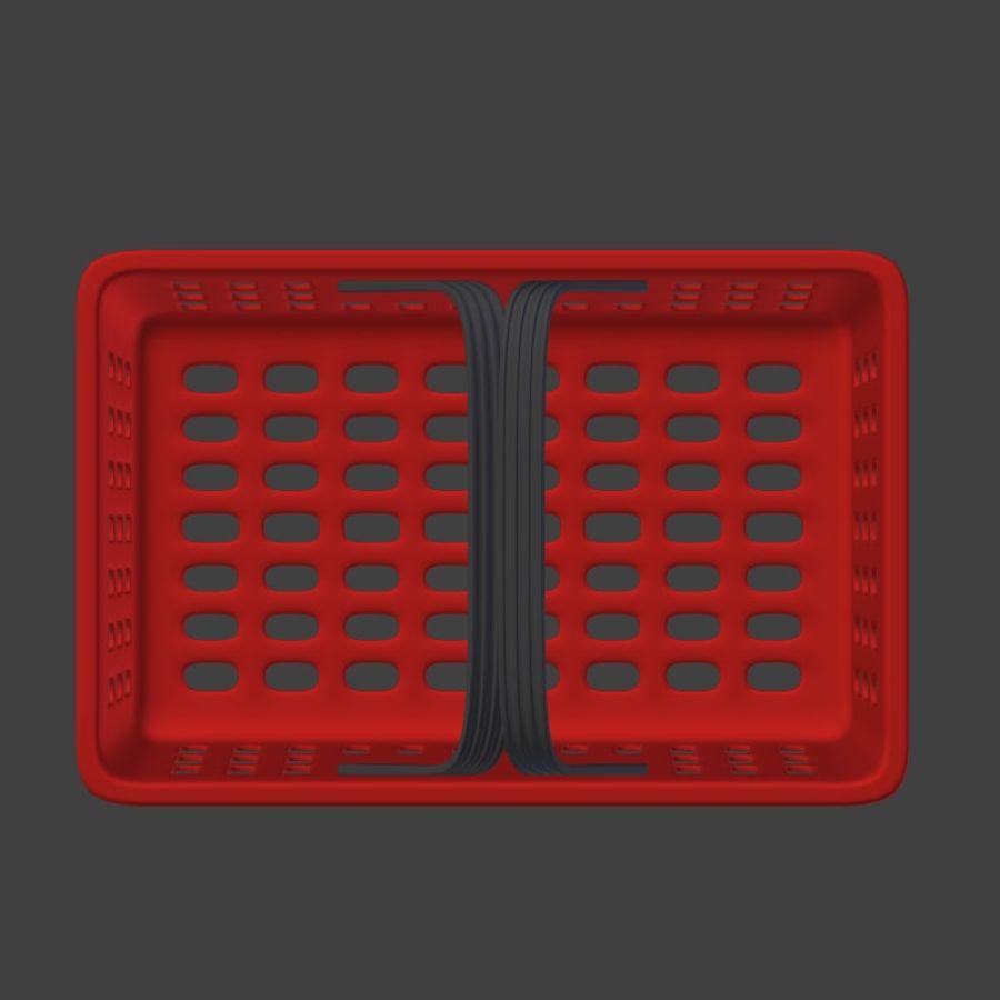 Корзина для покупок 2 royalty-free 3d model - Preview no. 9