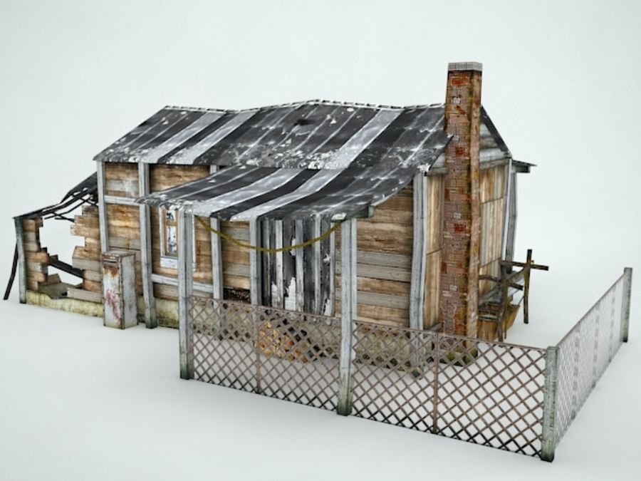 Maison ancienne royalty-free 3d model - Preview no. 3