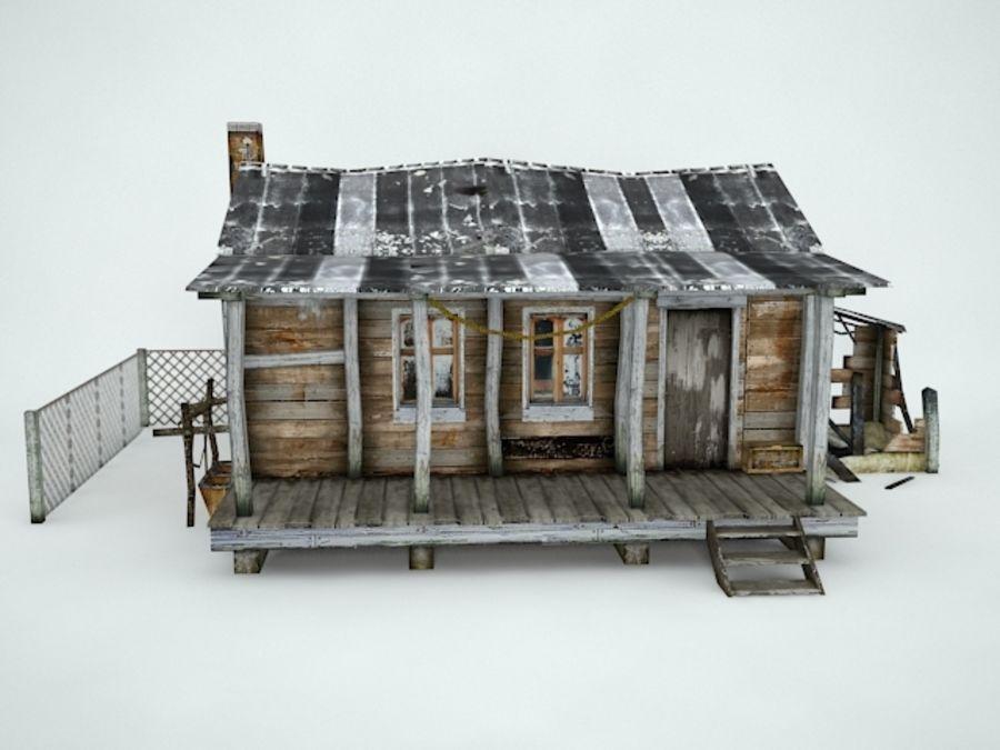 Casa velha royalty-free 3d model - Preview no. 2