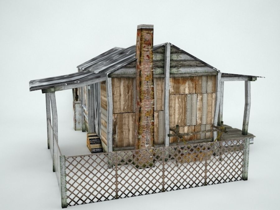 Maison ancienne royalty-free 3d model - Preview no. 7