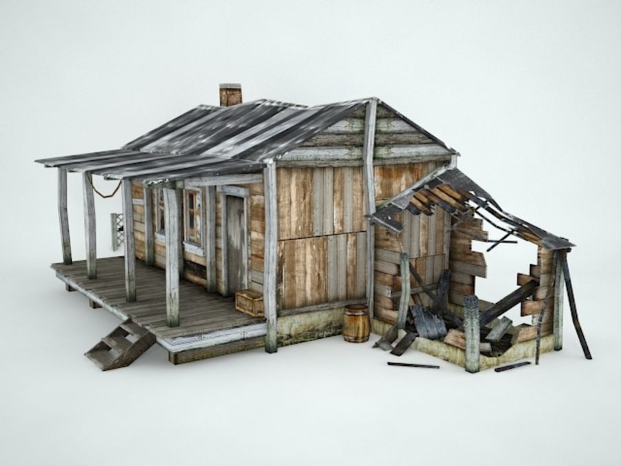 Maison ancienne royalty-free 3d model - Preview no. 6
