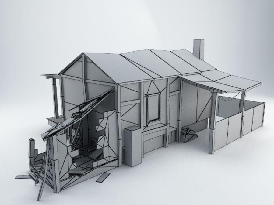 Casa velha royalty-free 3d model - Preview no. 11