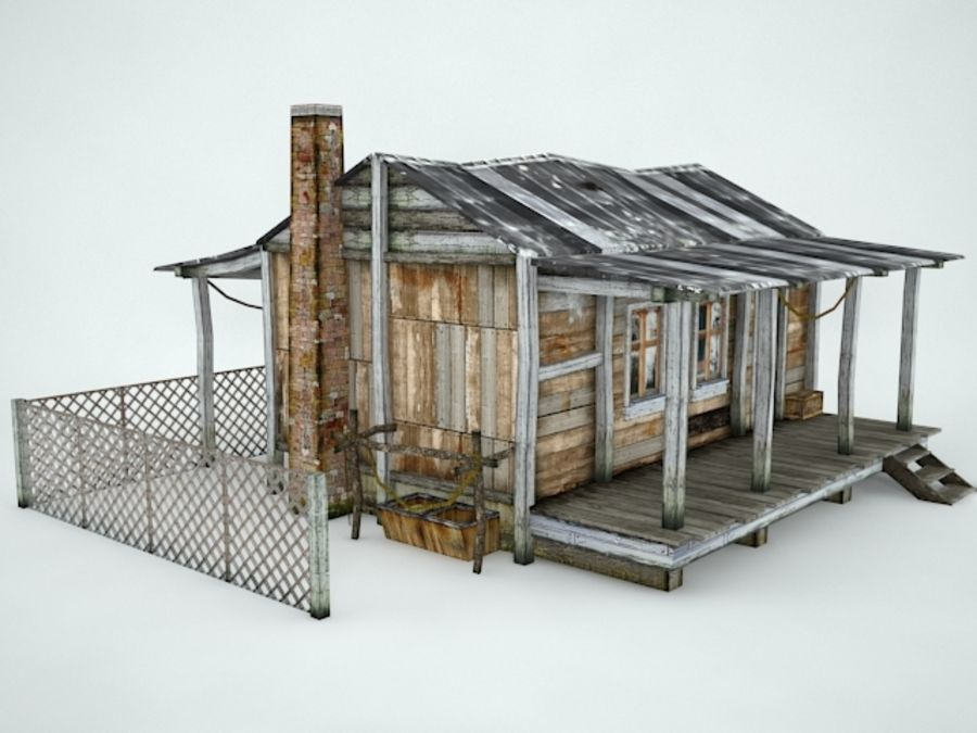 Maison ancienne royalty-free 3d model - Preview no. 4