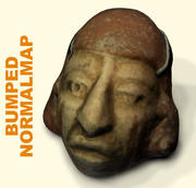 Archaeology face mud 3d model