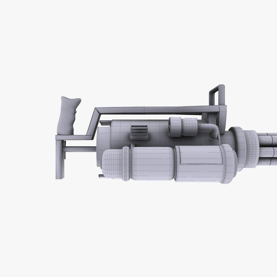 Minigun royalty-free 3d model - Preview no. 9