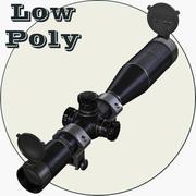 Optisk Omfattning Låg Poly 3d model