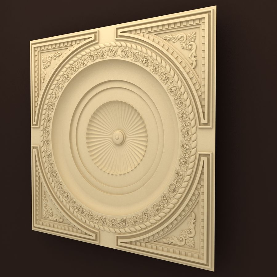 Rosette(1) royalty-free 3d model - Preview no. 4