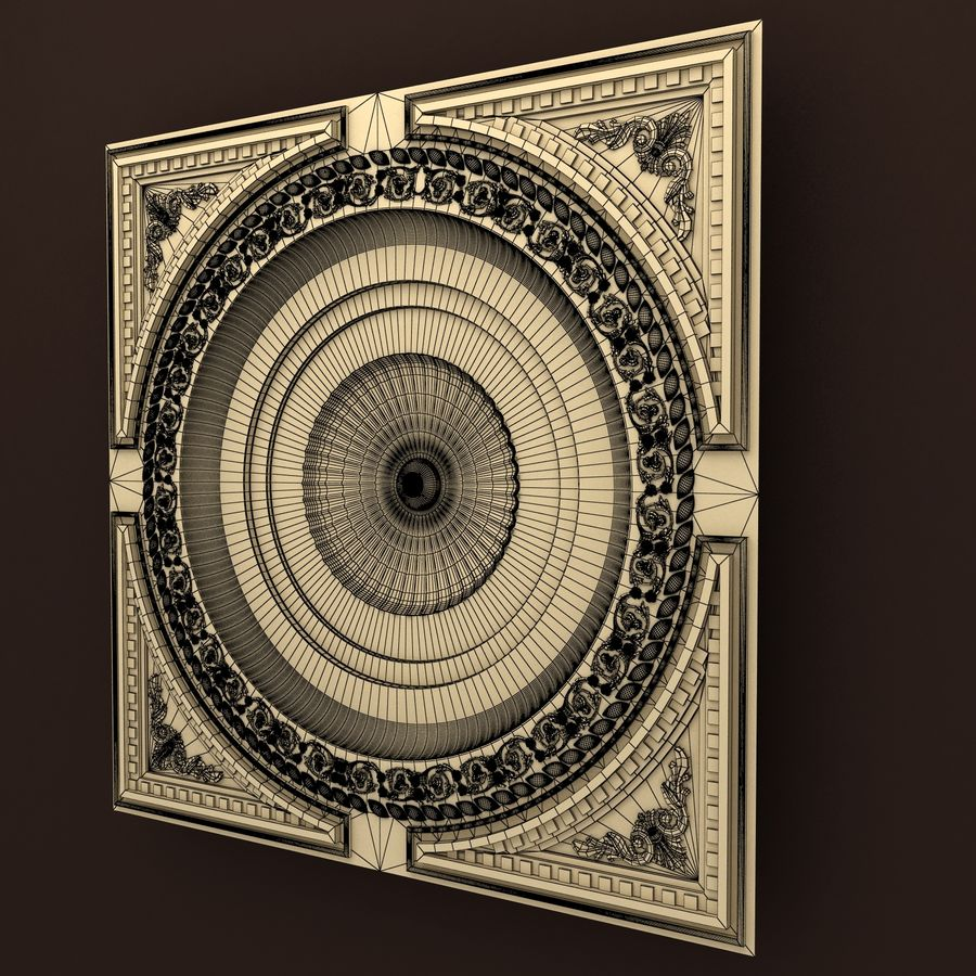 Rosette(1) royalty-free 3d model - Preview no. 5