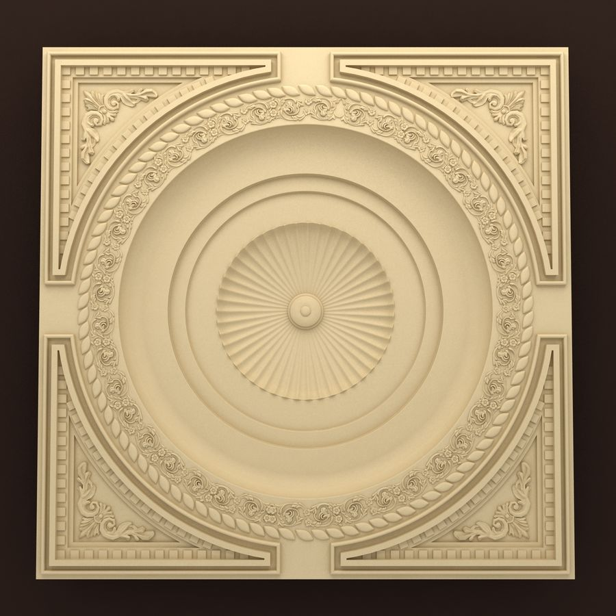 Rosette(1) royalty-free 3d model - Preview no. 1