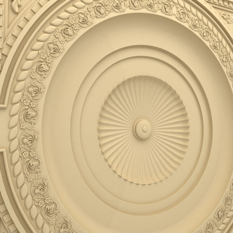 Rosette(1) royalty-free 3d model - Preview no. 3