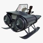 赛车零件的运输车 3d model
