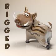 Boar 3D cartoon caracter 3d model