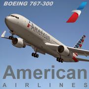 波音767 300美国航空公司 3d model
