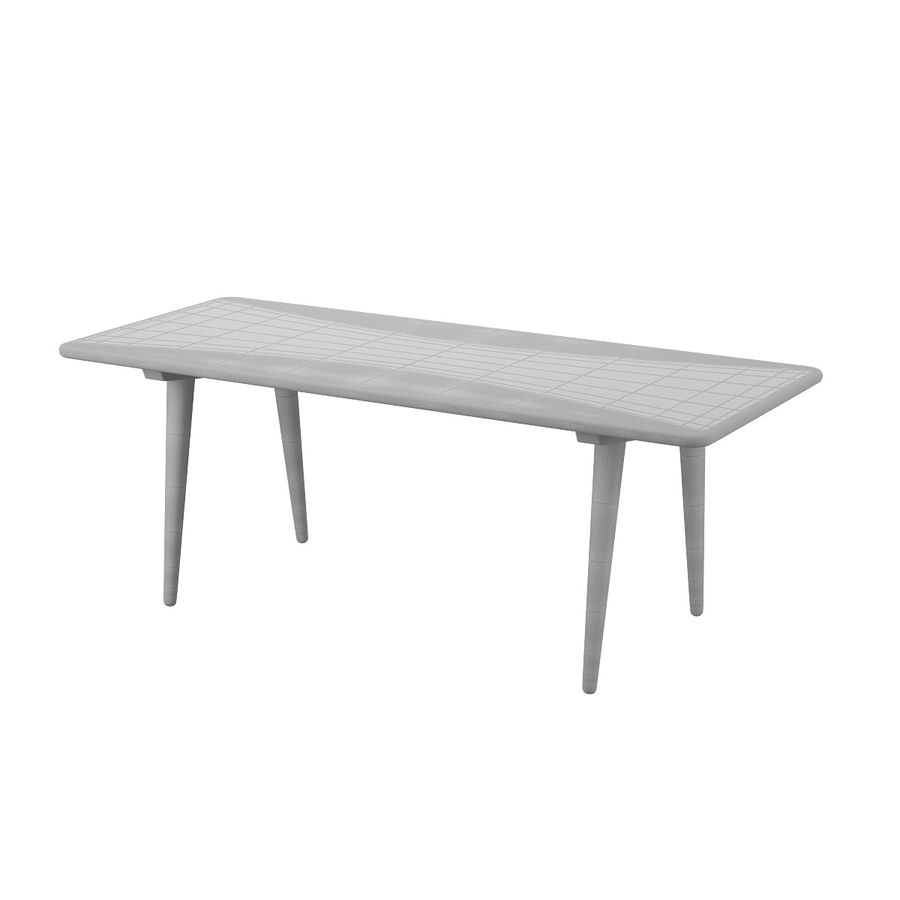 CH011 Coffee Table - Hans J. Wegner royalty-free 3d model - Preview no. 8