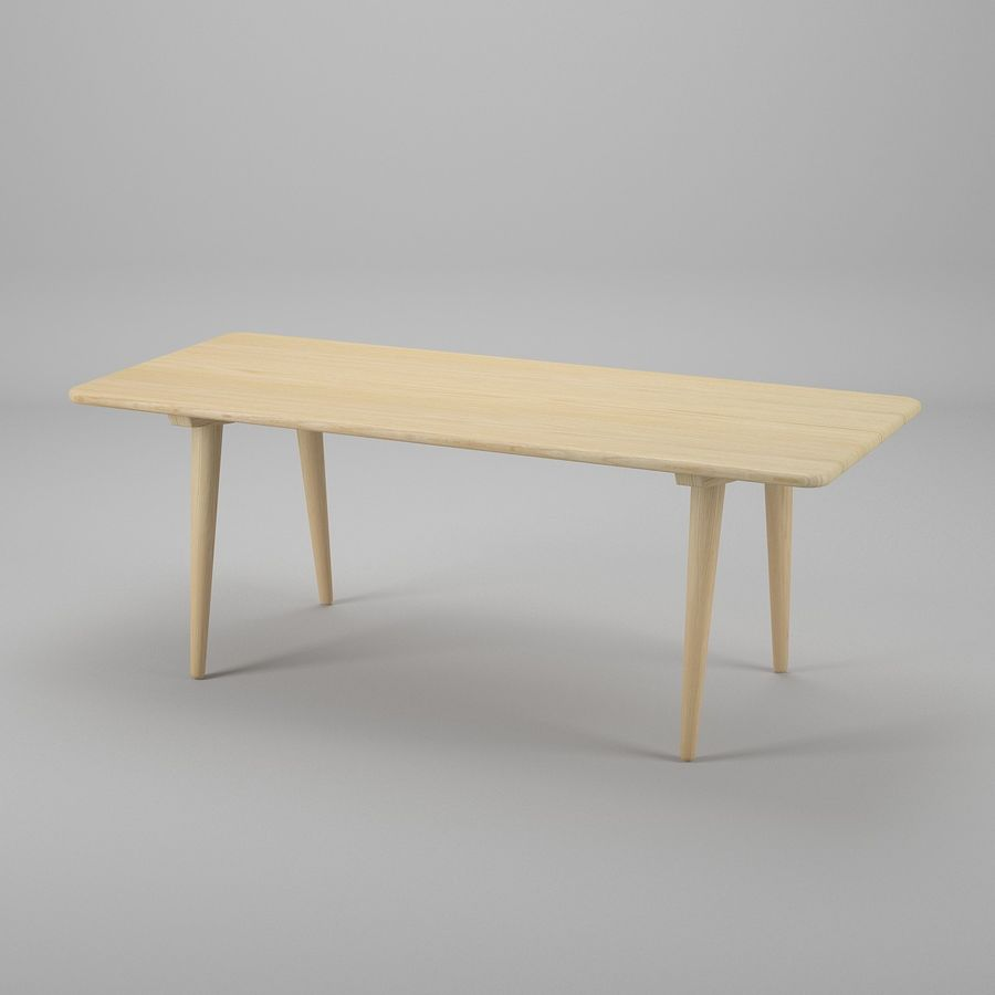 CH011 Coffee Table - Hans J. Wegner royalty-free 3d model - Preview no. 2