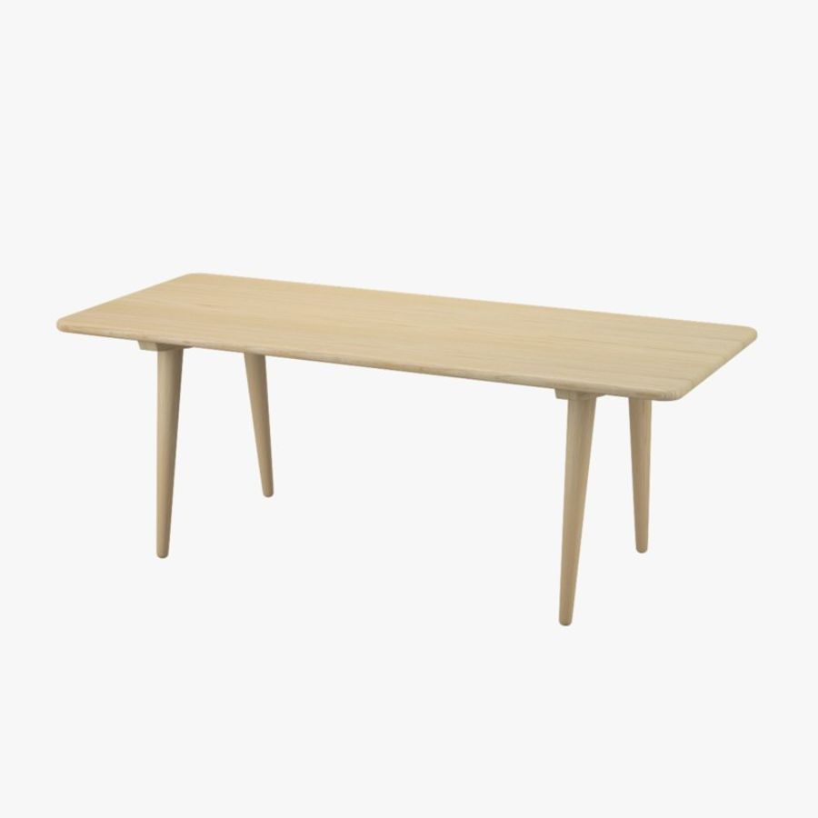 CH011 Coffee Table - Hans J. Wegner royalty-free 3d model - Preview no. 1