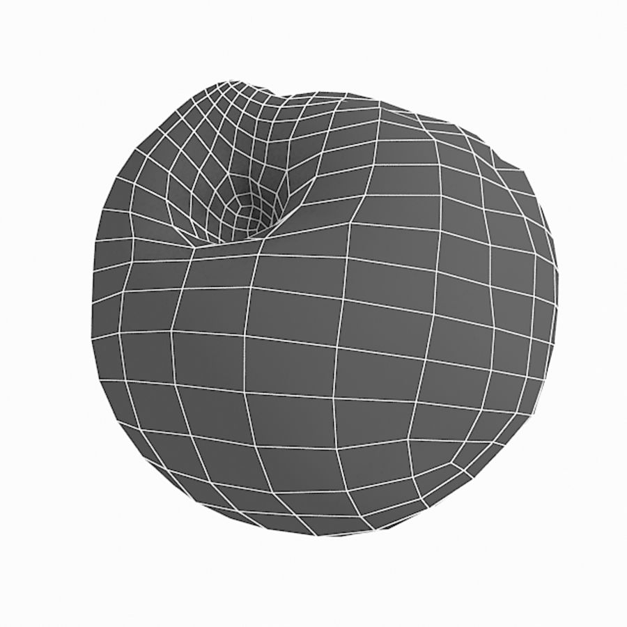 Rotte Rot Apple 2 royalty-free 3d model - Preview no. 45