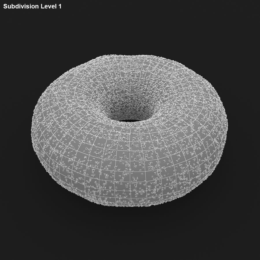 Donut Sugar royalty-free 3d model - Preview no. 16