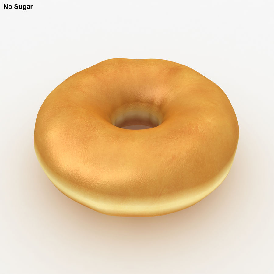 Donut Sugar royalty-free 3d model - Preview no. 3