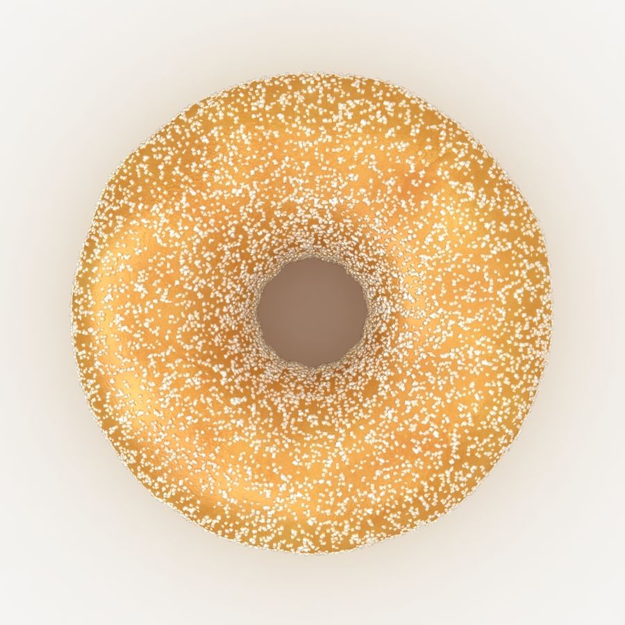 Donut Sugar royalty-free 3d model - Preview no. 7