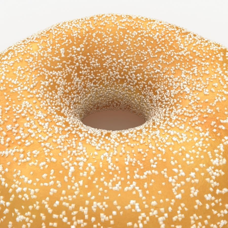 Donut Sugar royalty-free 3d model - Preview no. 4