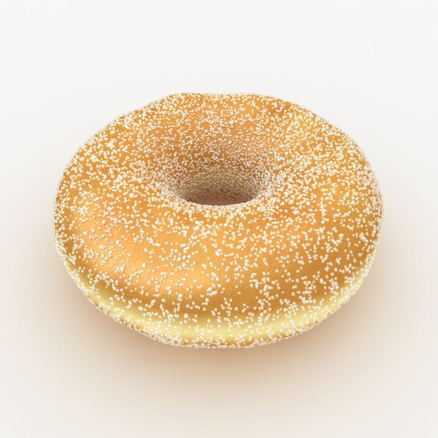 Donut Sugar royalty-free 3d model - Preview no. 2