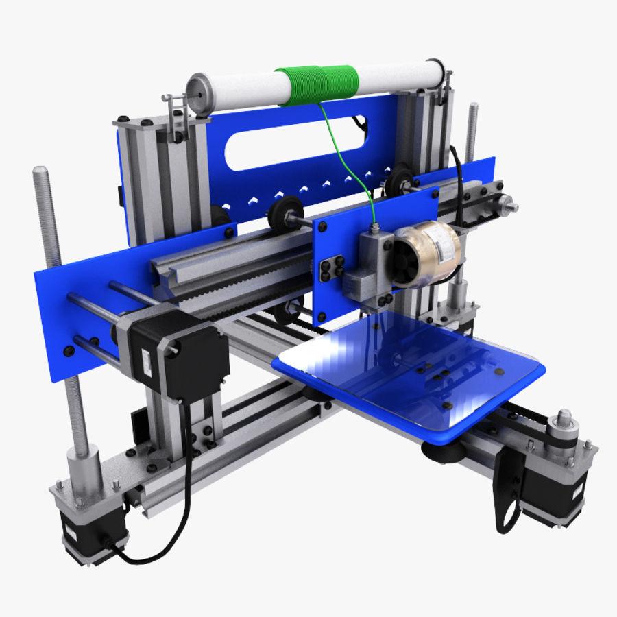 drukarka 3d royalty-free 3d model - Preview no. 3
