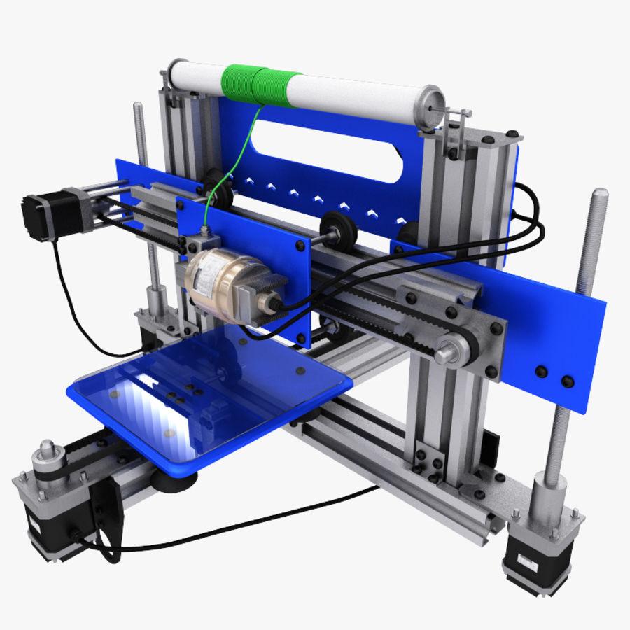 drukarka 3d royalty-free 3d model - Preview no. 1